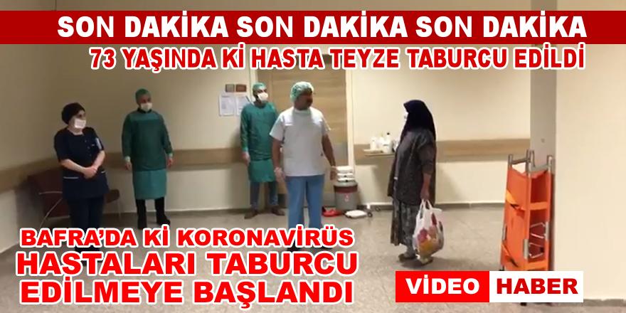 Bafra'da 73 Yasındaki korona hastası taburcu oldu