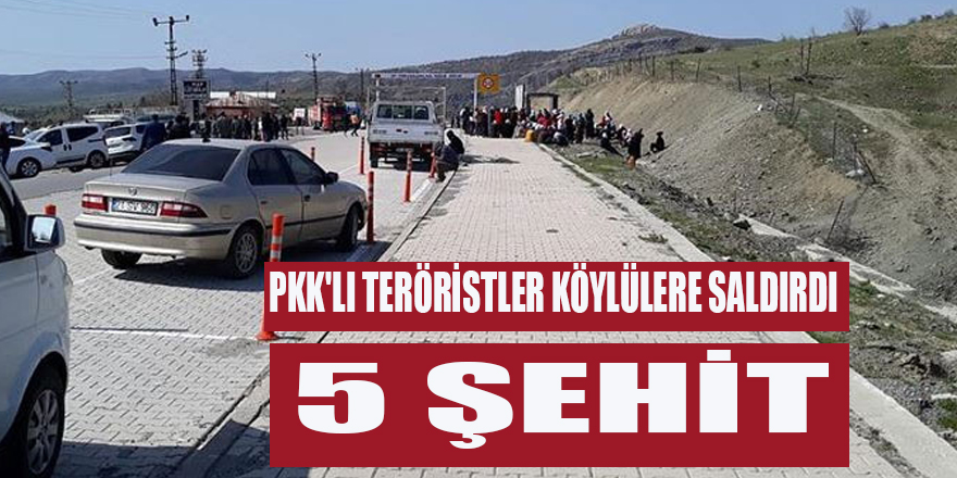PKK'LI TERÖRİSTLER KÖYLÜLERE SALDIRDI