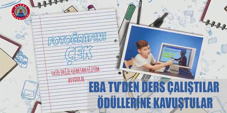 EBA TV'DEN DERS ÇALIŞTILAR ÖDÜLLERİNE KAVUŞTULAR
