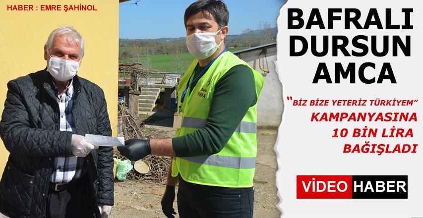 Çiftçi Dursun Çetinkaya 'Biz Bize Yeteriz Türkiyem' kampanyasına 10 bin lira bağışta bulundu