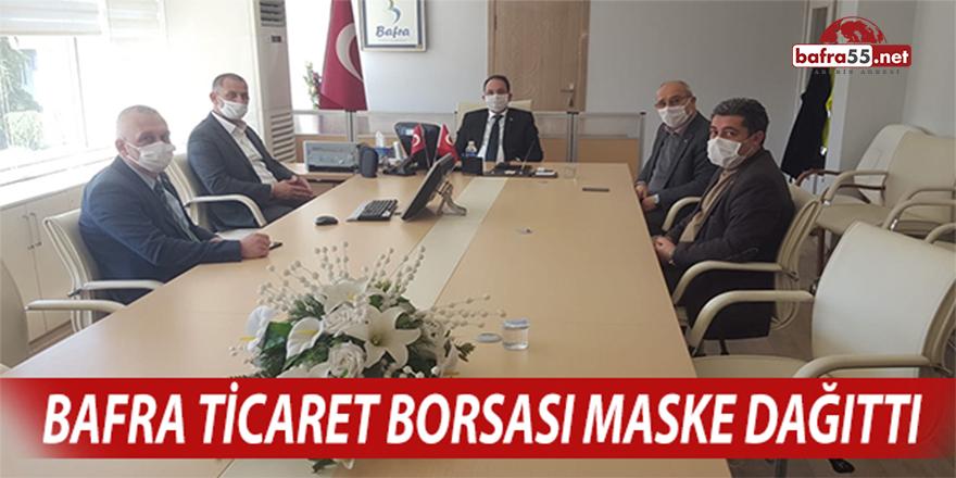 Bafra Ticaret Borsası Maske Dağıttı