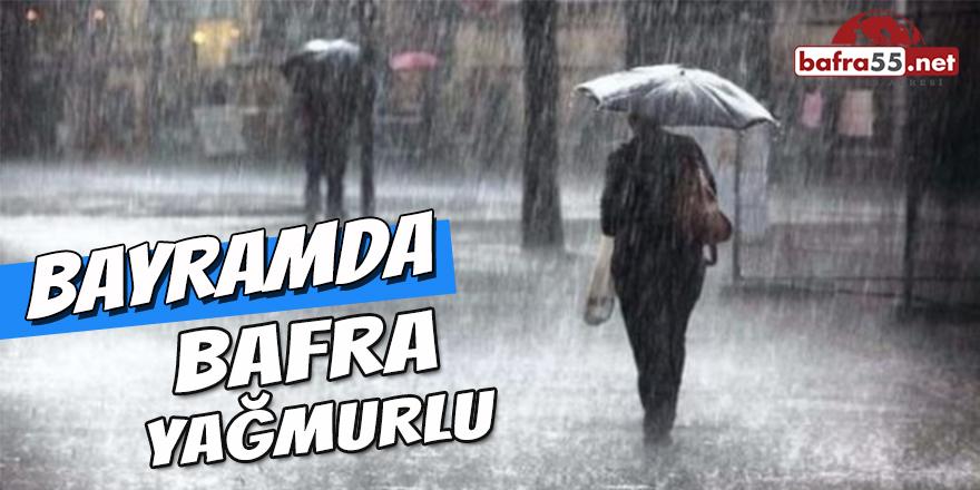Bayramda Bafra Yağmurlu