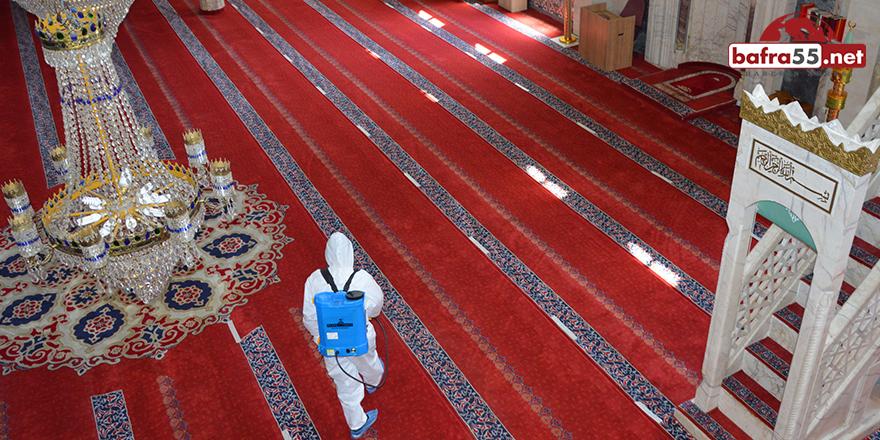 Havza'da Camiler Dezenfekte Ediliyor