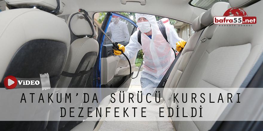 Atakum'da Sürücü Kursları Dezenfekte Edildi