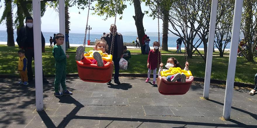 Sinop'ta Çocuklar Keyif Yaptı