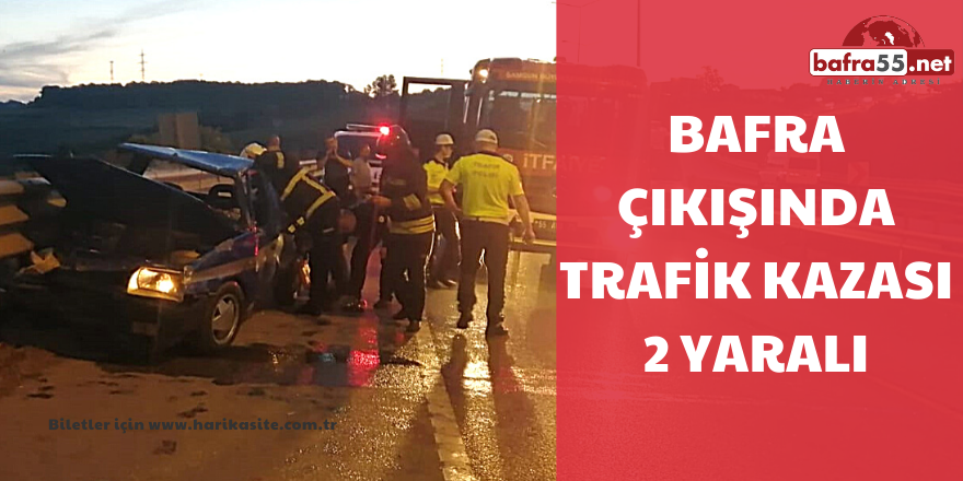 Alkollü sürücü bariyerlere çarptı: 2 yaralı