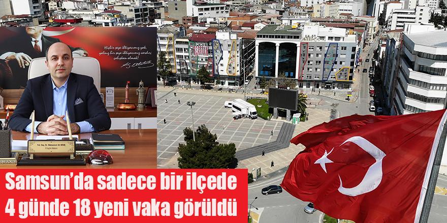 Samsun'da sadece bir ilçede 4 günde 18 yeni vaka görüldü