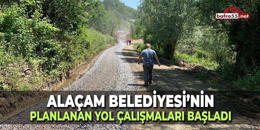 Alaçam'da Yol Çalışmaları Başladı