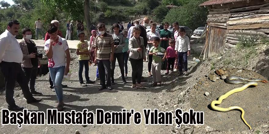 Başkan Mustafa Demir'e Yılan Şoku