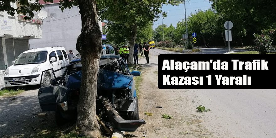 Alaçam'da Trafik Kazası 1 Yaralı