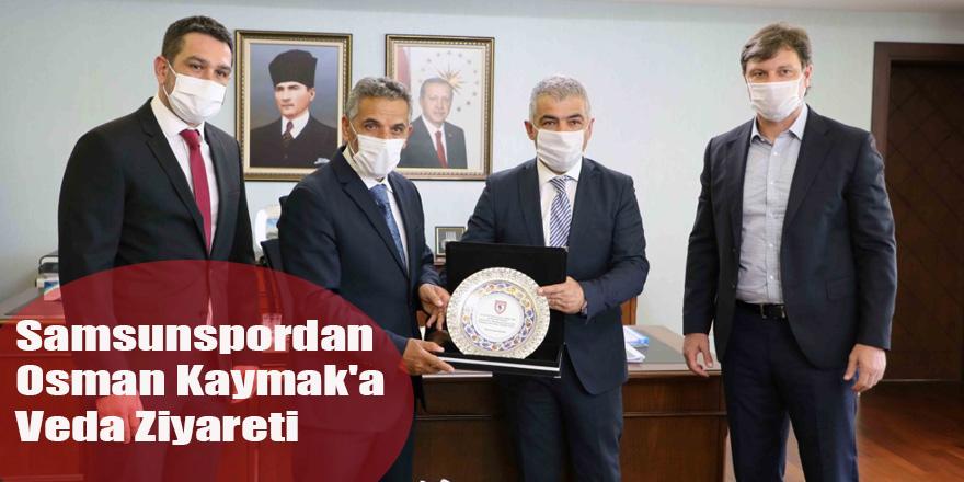 Samsunspordan Osman Kaymak'a Veda Ziyareti