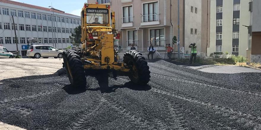 Sinop Belediyesinden Yol Çalışması