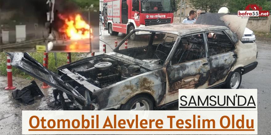 Samsun'da Otomobil Alev Alev Yandı!
