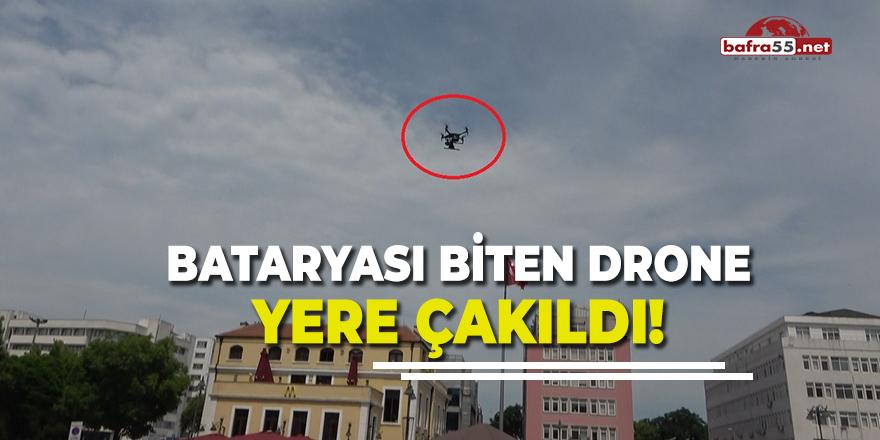 Bataryası Biten Drone Yere Çakıldı!