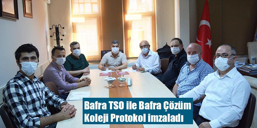 Bafra TSO ile Bafra Çözüm Koleji Protokol imzaladı