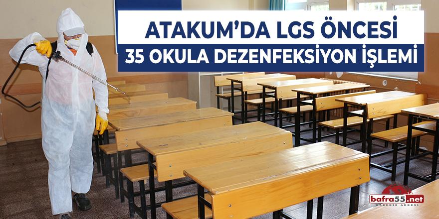 Atakum'da Lgs Öncesi 35 Okula Dezenfeksiyon İşlemi