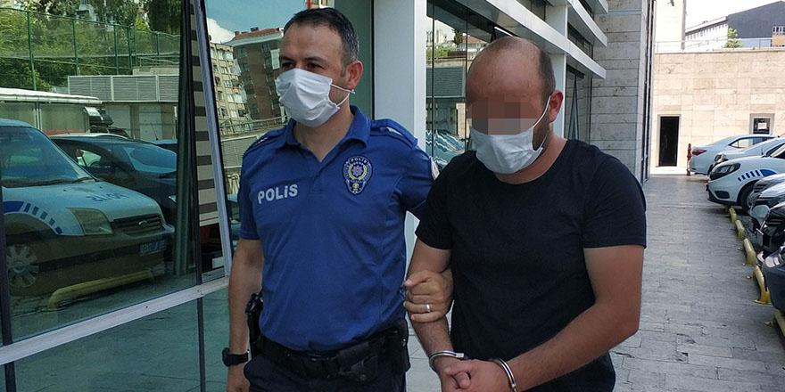 Polisin ayağının üzerinden geçti, tutuklandı
