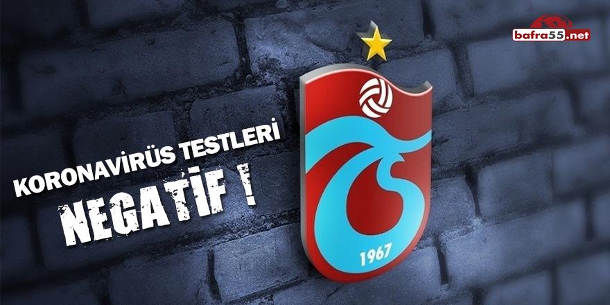 Trabzonspor'da Koronavirüs Testleri Negatif!