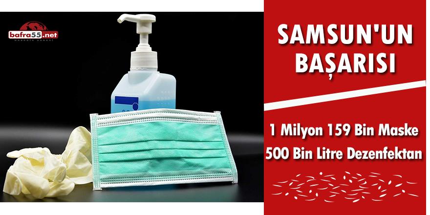 Samsun'da 1 Milyon 159 Bin Maske 500 Bin Litre Dezenfektan Üretildi