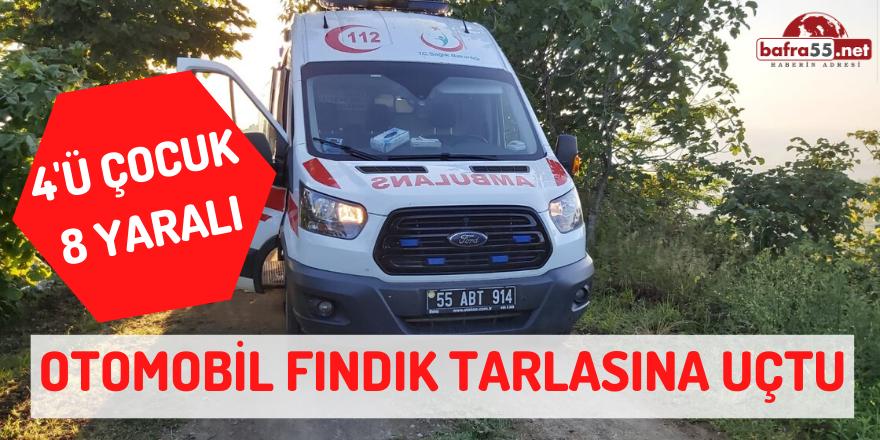 Samsun'da Otomobil Fındık Tarlasına Uçtu!