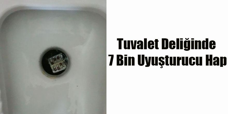 Tuvalet Deliğinde 7 Bin Uyuşturucu Hap
