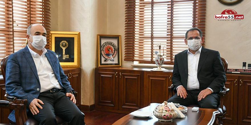 Samsun Valisi'nden Büyükşehir Belediye Başkanı'na Ziyaret