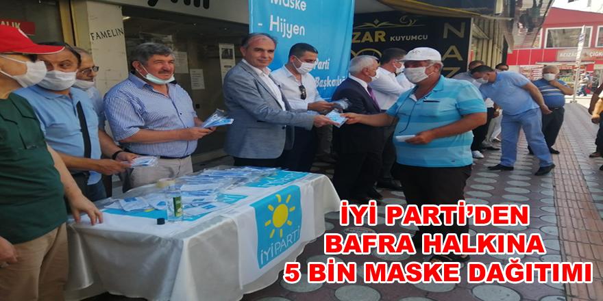 İYİ Parti'den Bafra Halkına 5 Bin Maske Dağıtımı