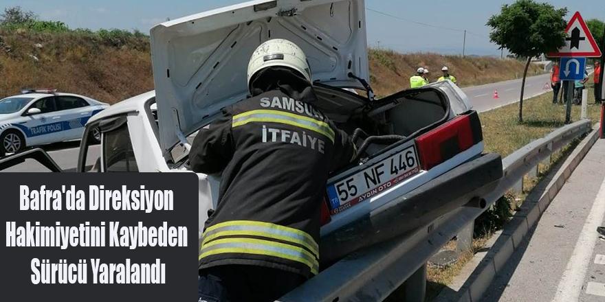 Bafra'da Direksiyon Hakimiyetini Kaybeden Sürücü Yaralandı