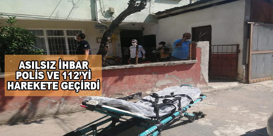 Bafra'da Küçük Kız Polis ve 112'yi Alarma Geçirdi