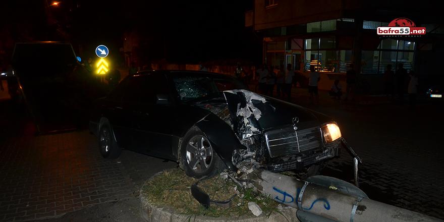 Alkollü Sürücü Terme'de Kaza Yaptı