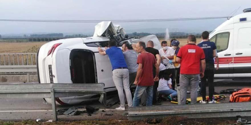 Çarşamba'da Feci Kaza 5 Yaralı