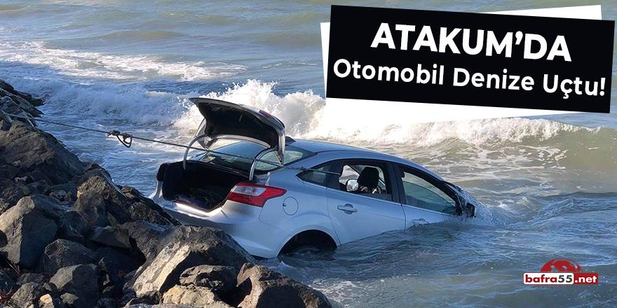 Atakum'da Otomobil Denize Uçtu!