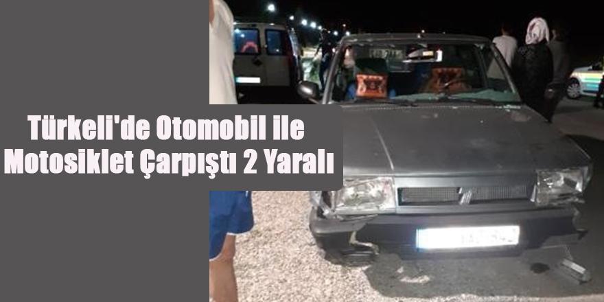 Türkeli'de Otomobil ile Motosiklet Çarpıştı 2 Yaralı
