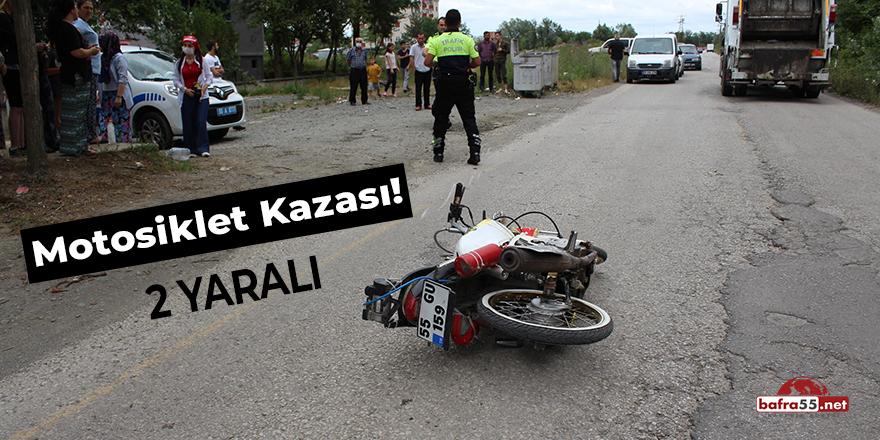 Samsun'da Motosiklet Kazası! 2 yaralı