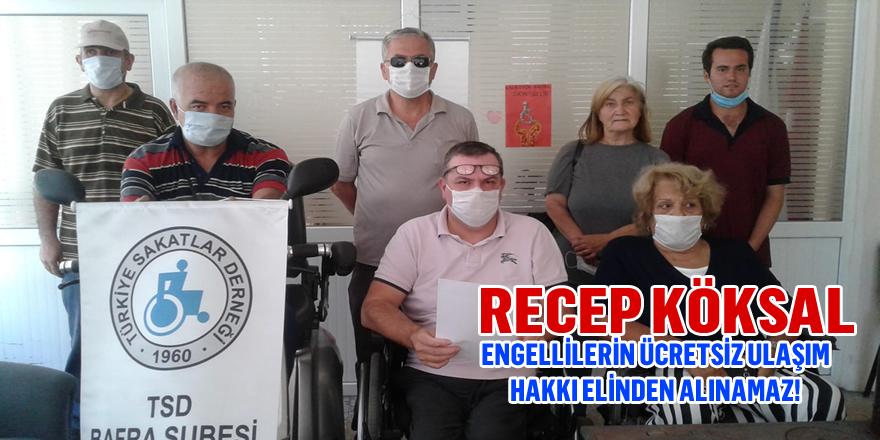 Engellilerin Ücretsiz Ulaşım Hakkı Elinden Alınamaz!