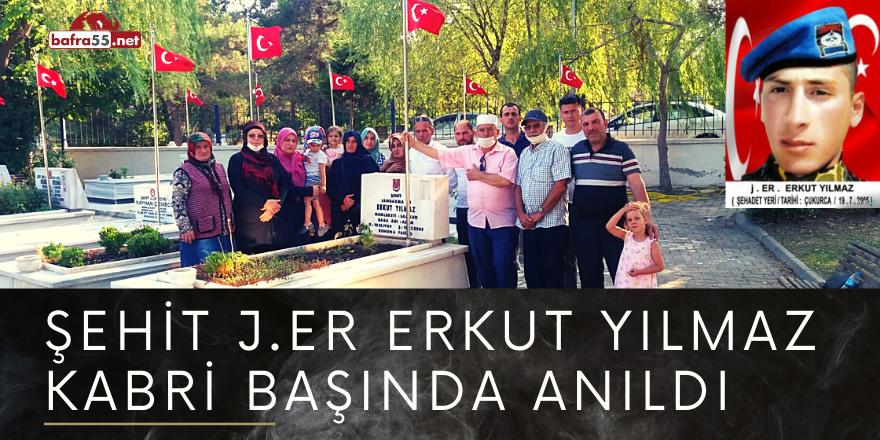 ŞEHİT J.ER ERKUT YILMAZ KABRİ BAŞINDA ANILDI