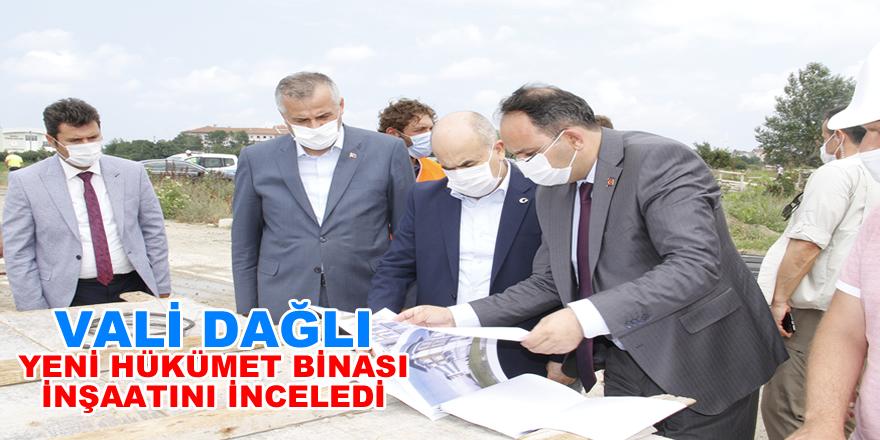 Samsun Valisi Dr. Zülkif Dağlı Hükümet Binası İnşaatını Ziyaret Etti