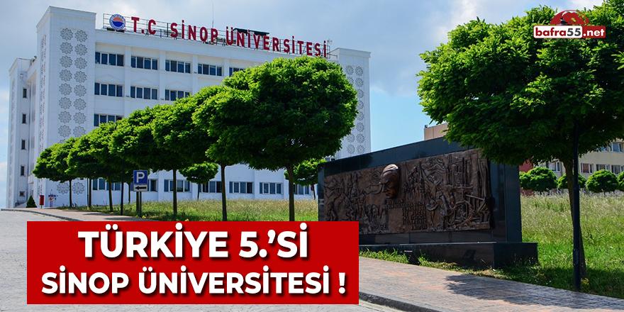Türkiye 5.si Sinop Üniversitesi