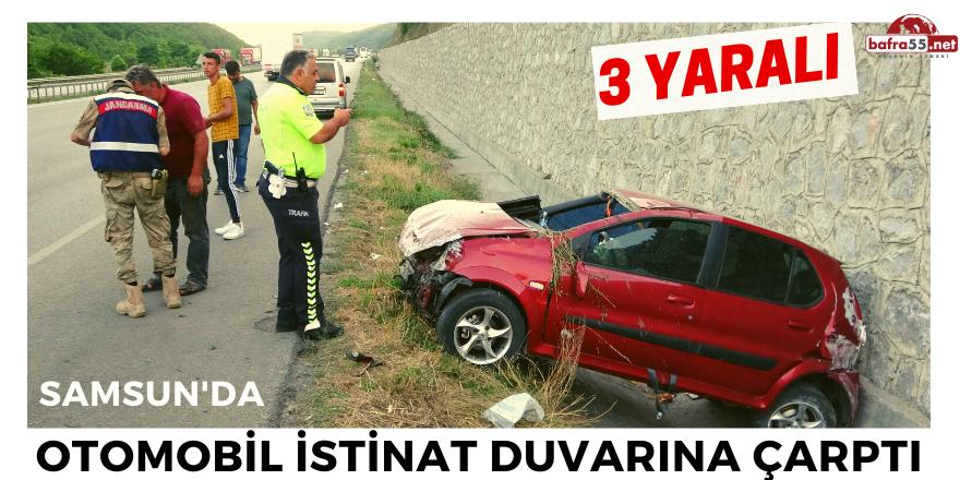 Otomobil İstinat Duvarına Çarptı