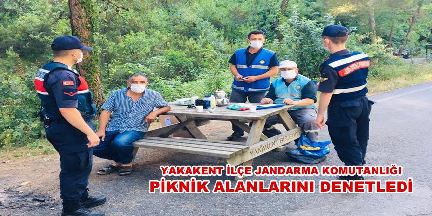 Yakakent İlçe Jandarm ekipleri Yakakentte Piknik Alanlarını Denetledi