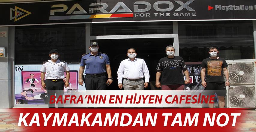 Bafra'nın En Hijyenik Cafesine Kaymakam'dan Tam Not