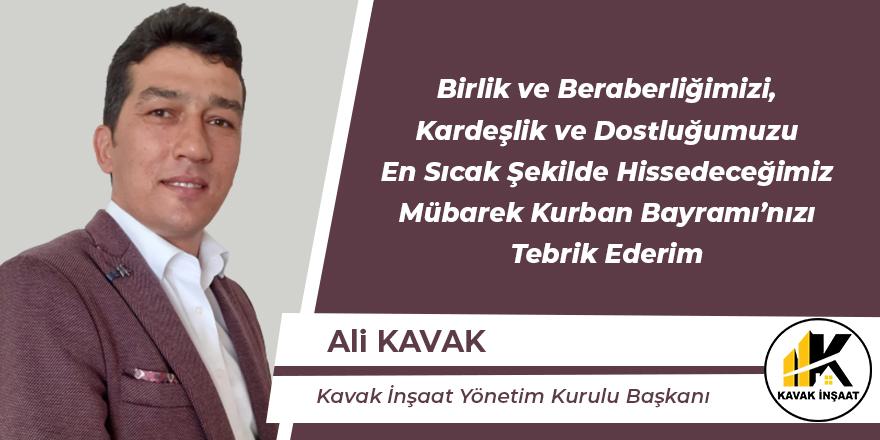 Ali Kavak Hayırlı Bayramlar Diler