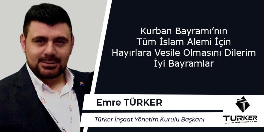Emre Türker Hayırlı Bayramlar Diler