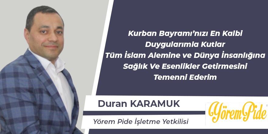 Duran Karamuk Bayram Mesajı