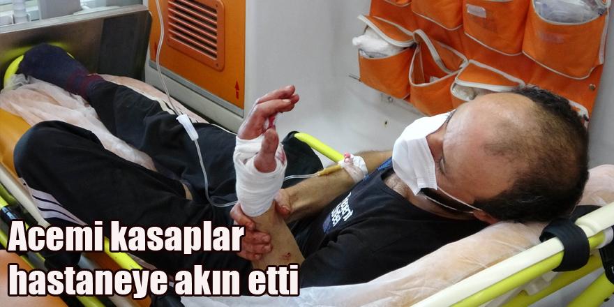 Acemi kasaplar hastaneye akın etti