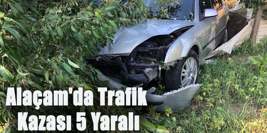 Alaçam'da Trafik Kazası 5 Yaralı