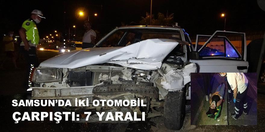 Samsun'da Trafik Kazası 7 Yaralı