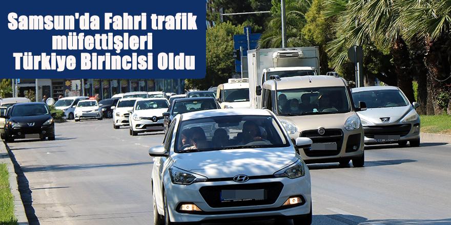 Samsun'da Fahri trafik müfettişleri Türkiye Birincisi Oldu