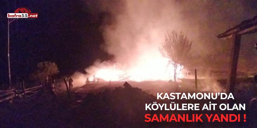 Kastamonu'da Samanlık Yangını!