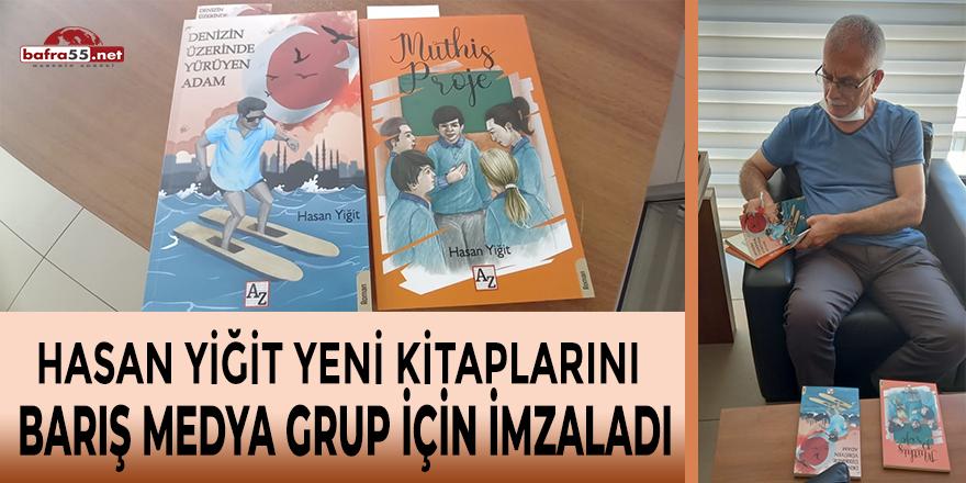 Hasan Yiğit Yeni Kitaplarını Barış Medya Grup İçin İmzaladı